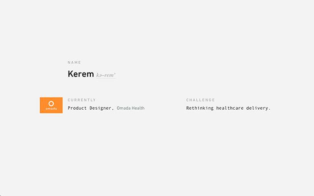 Minimal portfolio of product designer Kerem Suer.