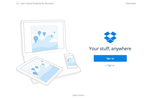 dropbox-website
