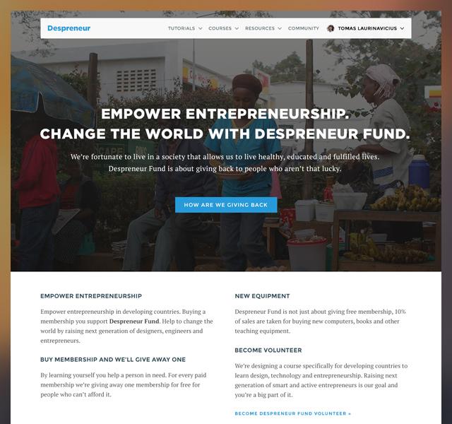 Despreneur Fund for empowering entrepreneurship.