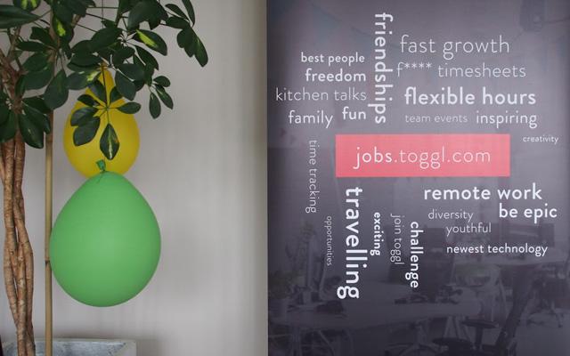 Toggl's keywords and job page.