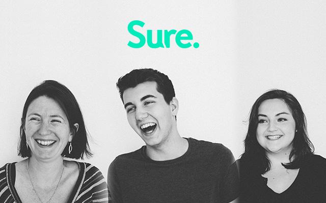 People behind the Sure app: Suzanne van Nes, Juraj Pal and Alexandra Neczliova.