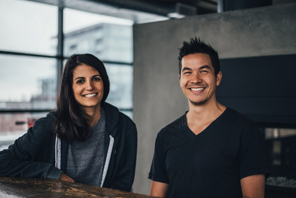 Crew co-founders Mikael Cho and Stephanie Liverani